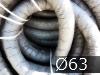 Дренажные трубы  ?63мм с фильтром из геотекстиля черные