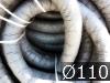 Дренажные трубы  ?110мм с фильтром из геотекстиля черные